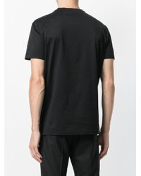 Emporio Armani - Black T-shirt Con Logo Ricamato for Men - Lyst