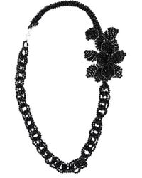 Night Market - Black Beaded Chain Necklace - Lyst