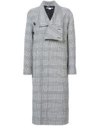 Stella McCartney - Black Asymmetric Button Coat - Lyst