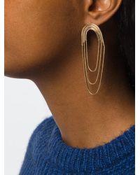 Pamela Love - Metallic Large Iris Earrings - Lyst