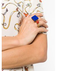 Marni - Blue Resin And Metal Ring Set - Lyst