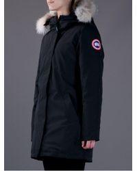 Canada Goose | Black Fur Collar Parka | Lyst
