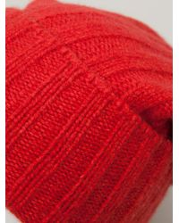 The Elder Statesman - Red Slouch Fit Beanie for Men - Lyst