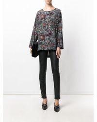 Antonio Marras - Black Floral Print Tunic - Lyst