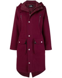 Karl Lagerfeld - Red Parka oversize con capucha - Lyst