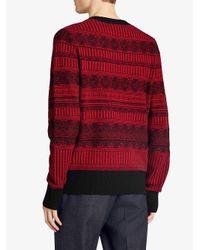 Burberry - Black Fair Isle Sweater for Men - Lyst