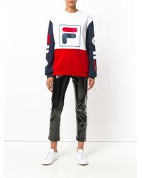 Fila - White Logo Colourblock Sweater for Men - Lyst