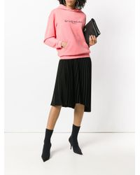 Givenchy - Pink Blurred Logo Hoodie By - Lyst