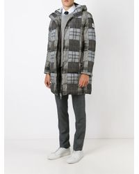 Moncler Gamme Bleu | Gray Patchwork Padded Coat for Men | Lyst