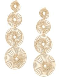 Rosantica - Metallic Soffio Earrings - Lyst