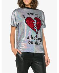 Ashish - Metallic Sequined Silk Blend T Shirt - Lyst