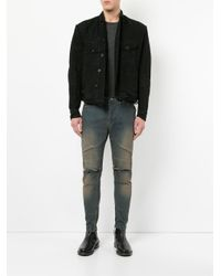 Julius - Black Distressed Denim Jacket for Men - Lyst