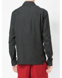 Haider Ackermann - Black Collarless Shirt for Men - Lyst