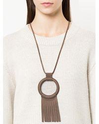 Crescioni - Multicolor Fringe Detail Necklace - Lyst
