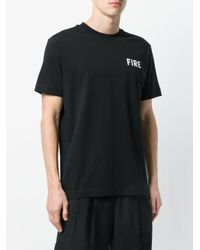 Palm Angels - Black Fire T-shirt for Men - Lyst
