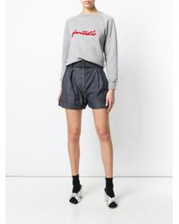 N°21 - Blue High-waisted Denim Shorts - Lyst