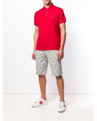 Polo Ralph Lauren - Red Slim Pima Cotton Polo Shirt for Men - Lyst