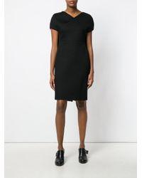 Chalayan - Black Caped Pencil Dress - Lyst