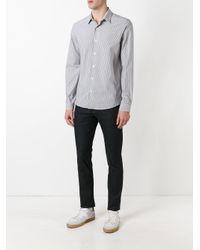 AMI - Gray Classic Collar Shirt for Men - Lyst