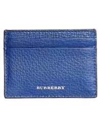 Burberry - Blue House Check Card Case - Lyst