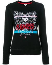 KENZO - Black Tiger Embroidered Sweatshirt - Lyst