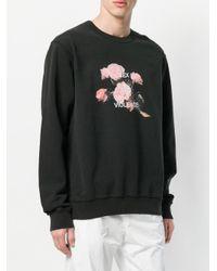 M I S B H V - Black Floral Print Sweatshirt for Men - Lyst