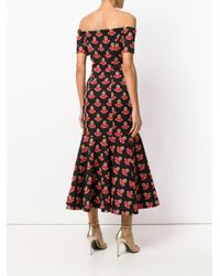 Temperley London Black Jupiter Off Shoulder Dress