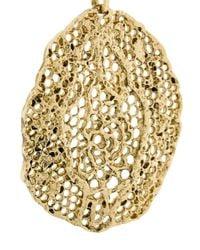 Aurelie Bidermann - Metallic Vintage Lace Clip-on Earrings - Lyst