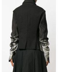 Rundholz - Black Rugged Sleeves Short Jacket - Lyst