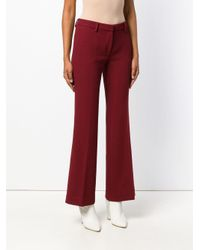 L'Autre Chose - Cropped Flared Trousers - Lyst