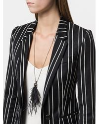 Ann Demeulemeester - Black Feather Detail Long Necklace - Lyst
