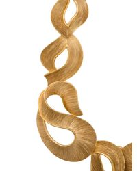 Oscar de la Renta - Metallic Twisted Ribbon Necklace - Lyst