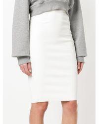 Stouls - White Pencil Skirt - Lyst