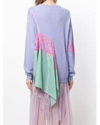 Preen By Thornton Bregazzi - Purple Colour-block Fitted Sweater - Lyst