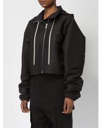 Rick Owens - Black Detachable Hood Zipped Jacket - Lyst
