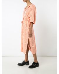 Maison Rabih Kayrouz - Orange Striped Midi Dress - Lyst