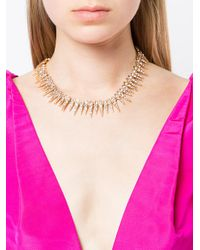Oscar de la Renta - Metallic Sea Urchin Necklace - Lyst