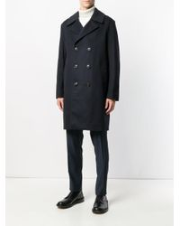 Mackintosh - Blue Double Breasted Coat for Men - Lyst