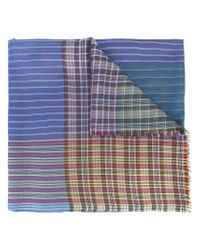 Etro | Blue Color Block Scarf | Lyst