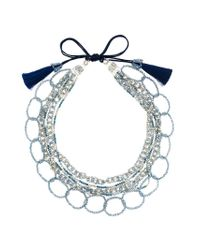 Night Market - Blue Bead Layers Necklace - Lyst