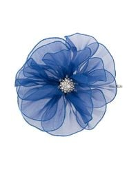 Lanvin - Blue Flower Brooch - Lyst