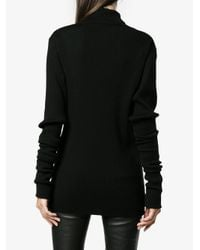 Y. Project - Black Rolled Ribbed Jumper - Lyst