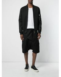 Rick Owens Drkshdw - Black Drop-crotch Shorts for Men - Lyst