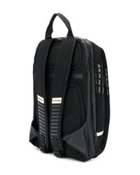 DIESEL - Black Textured Logo Backpack for Men - Lyst