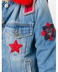 Ermanno Scervino - Blue Fur-collar Denim Jacket - Lyst