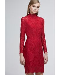 Keepsake - Red Electric Long Sleeve Lace Dress - Lyst