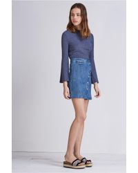 The Fifth Label - Blue One Way Ticket Skirt - Lyst