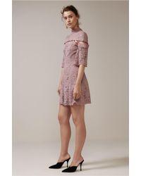 Keepsake - Purple Star Crossed Lace Mini Dress - Lyst
