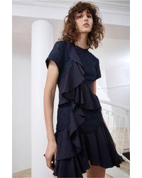 C/meo Collective - Blue Phase Short Sleeve Dress - Lyst