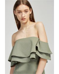 Keepsake - Green Two Fold Dress - Lyst
